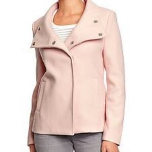 Short Pastel Pink Peacoat